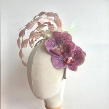 Load image into Gallery viewer, Pink Orchid Fascinator - AnneDePasquale