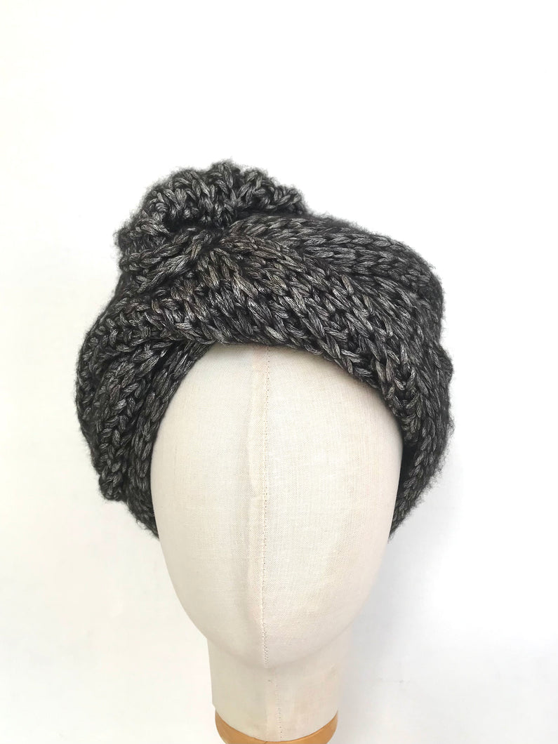 Twisted Knit Turban - AnneDePasquale