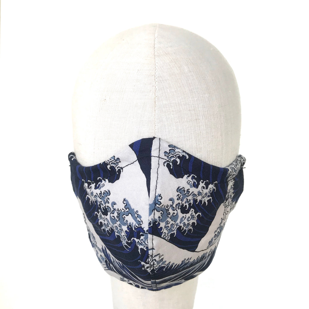 Japanese Wave Face Mask - AnneDePasquale