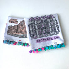 Load image into Gallery viewer, NYC Landmark buildings tea towel