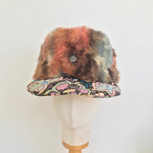 Load image into Gallery viewer, Faux Fur & Brocade Trapper
