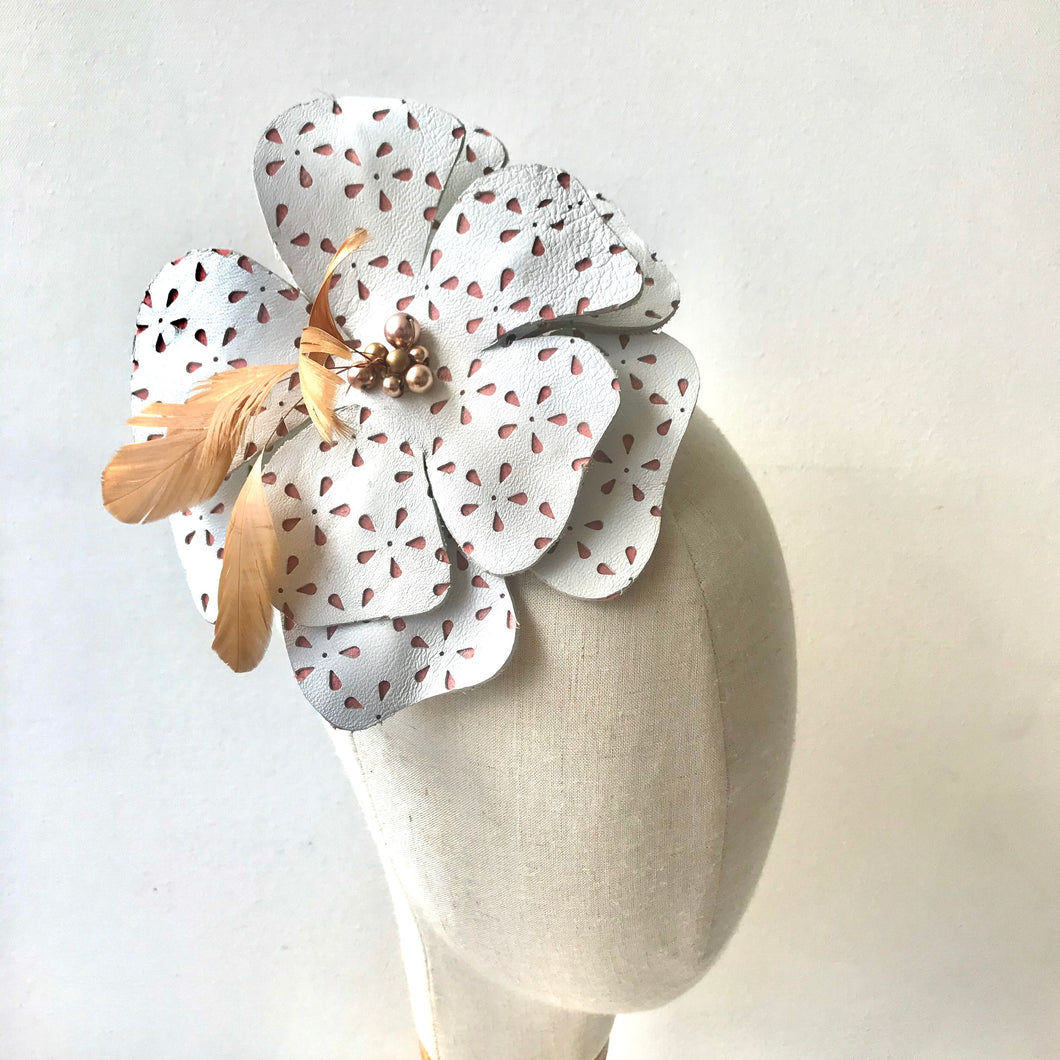 White Hibiscus Fascinator