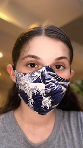 Japanese Wave Face Mask