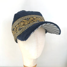 Load image into Gallery viewer, Royal Blue Velvet Square Cap