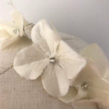 Load image into Gallery viewer, White flower halo headband - AnneDePasquale