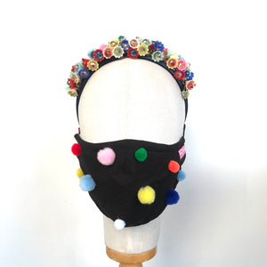 Mini Pom Pom Face Mask - AnneDePasquale