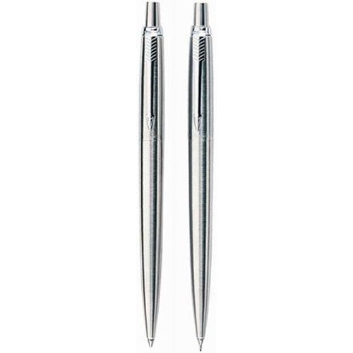 Parker Stainless Steel SS - Ballpoint & Pencil Set