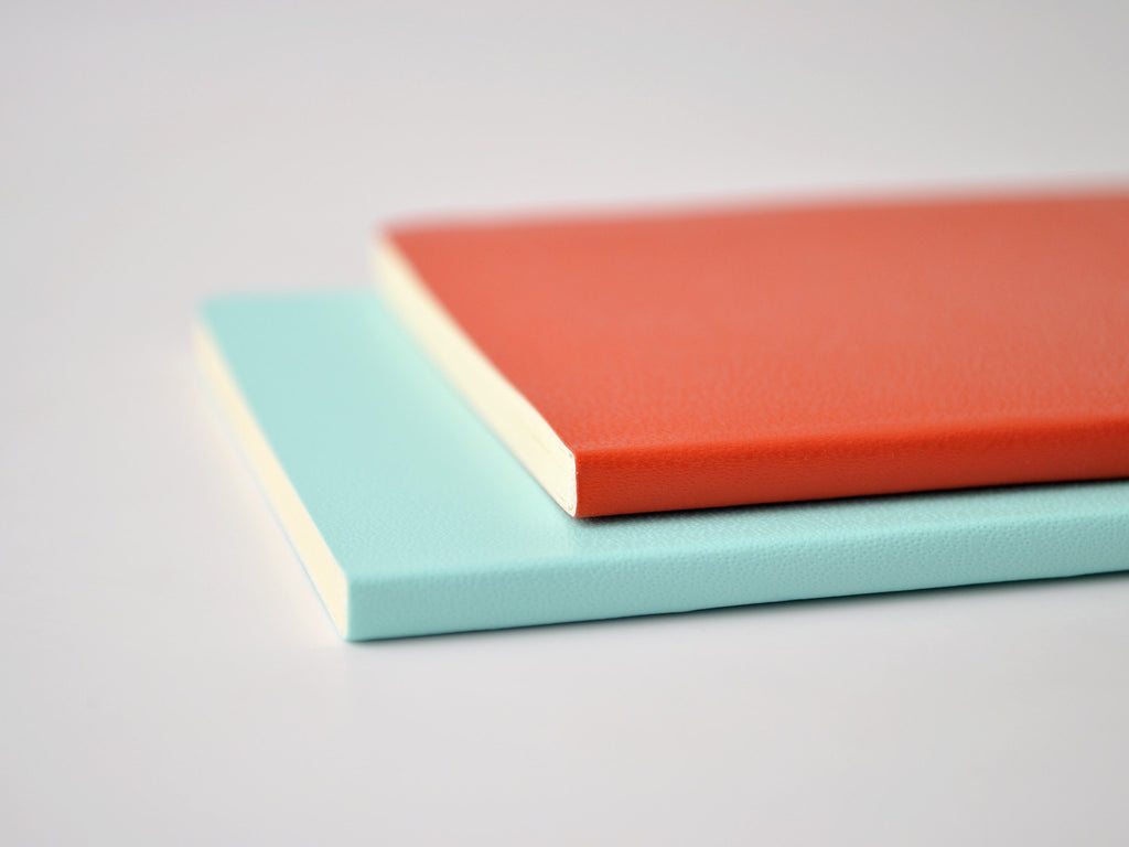 Volant Coral Orange/ Aquamarine Blue Journal