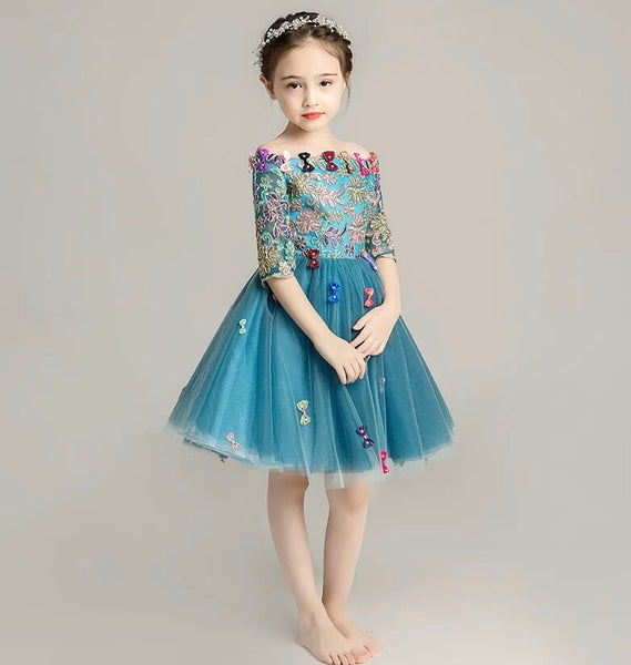 Peacock Blue Formal Gowns