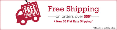 New $5 Flat-Rate Shipping + Free Shipping