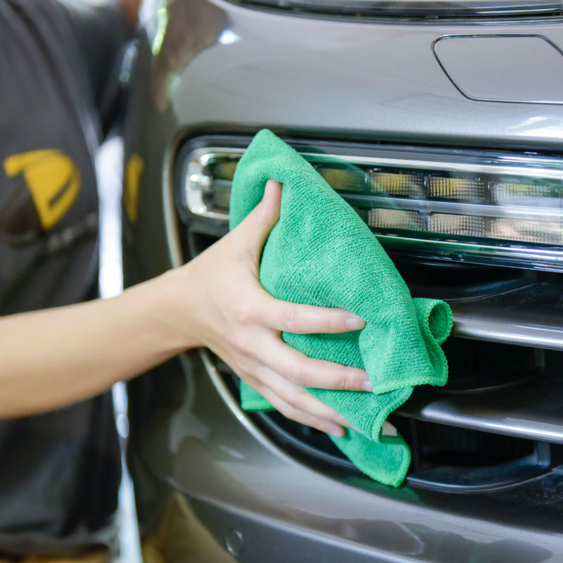 "Auto Cleaning Car Wash Drying Microfiber Basic Towel,15""X15"",260GSM, 6pcs/Pack, Olive"