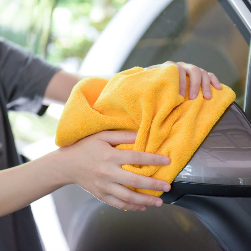 "Auto Cleaning Car Wash Drying Microfiber Basic Towel,15""X15"",260GSM, 6pcs/Pack, Orange"