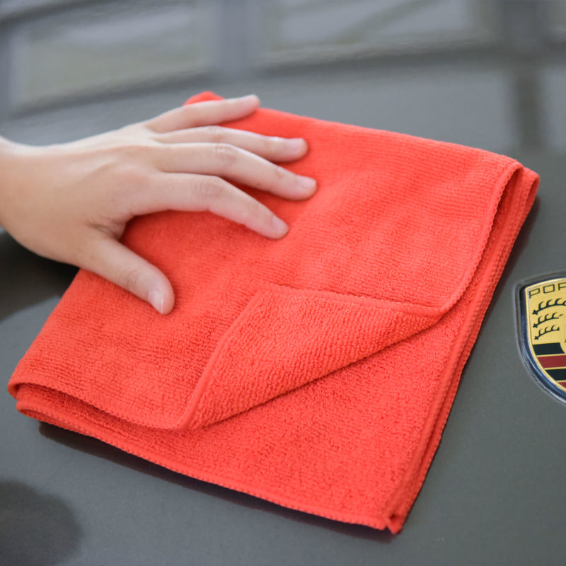 "Auto Cleaning Car Wash Drying Microfiber Basic Towel,15""X15"",260GSM, 6pcs/Pack, Yellow	Auto Cleaning Car Wash Drying Microfiber Basic Towel,15""X15"",260GSM, 6pcs/Pack, Fiery Red"