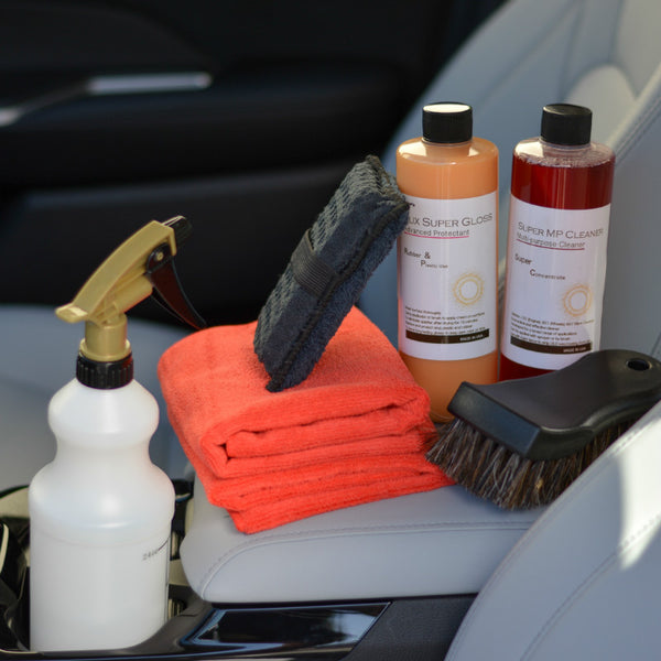 Luxury Super Gloss chemical Kit to Protect Car Leather Seat, Pack for 8pcs