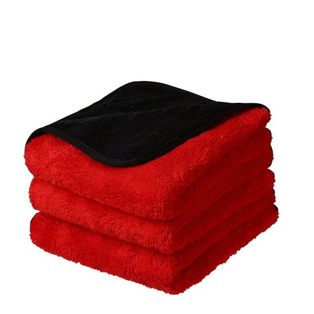 "Royal Coral Fleece Microfiber Towel (16""x16"", 880GSM) - CarCarez Professional Auto Detailing and Cleaning Products"
