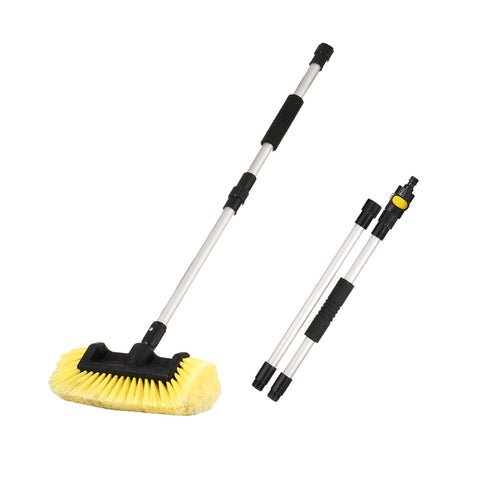 "10""/12"" Flow-Thru Brush Head w. Adjustable Pole & On/Off Switch (1.3'-5 ft. Extension)"
