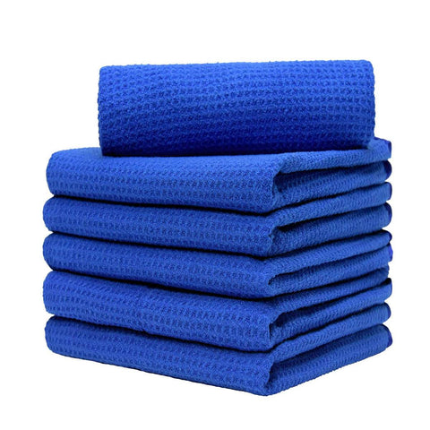 "Waffle Weave Microfiber Towel (16""x24"", 380GSM, Pack of 6) - CarCarez Professional Auto Detailing and Cleaning Products"