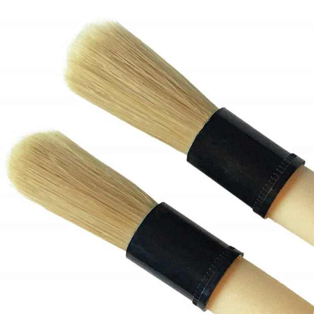 Boar Hair Detailing Brush w. Protective Rubber Ferrule (Pack of 2)