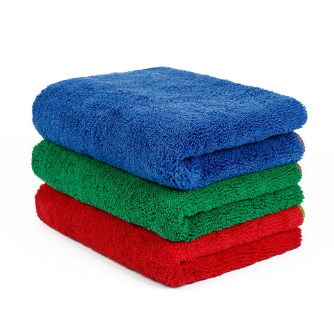 "Wash & Dry Premium Edgeless Microfiber Towel (16""x24"", 380GSM, Pack of 6) - CarCarez Professional Auto Detailing and Cleaning Products"