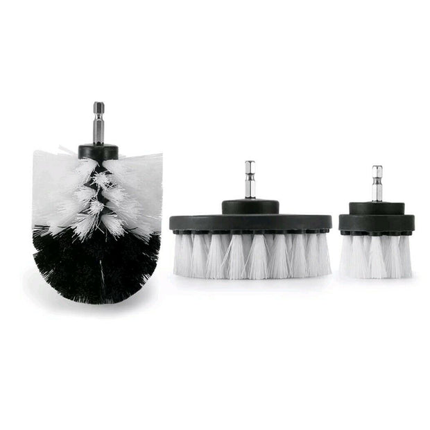 3Pcs Drill Brush Power Scrubber Drill Attachments Soft - CarCarez Professional Auto Detailing and Cleaning Products