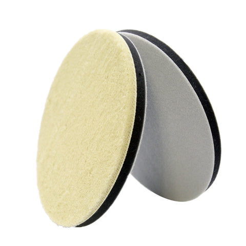 "7"" Wool Power Polishing Pad (Pack of 2) - CarCarez Professional Auto Detailing and Cleaning Products"