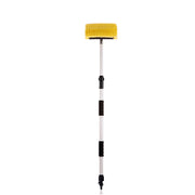 "Car Wash 10"" Brush Head with Extension Long Handle Flow-Thru Pole for Detailing Washing Vehicles, Boats, RVs, ATVs"