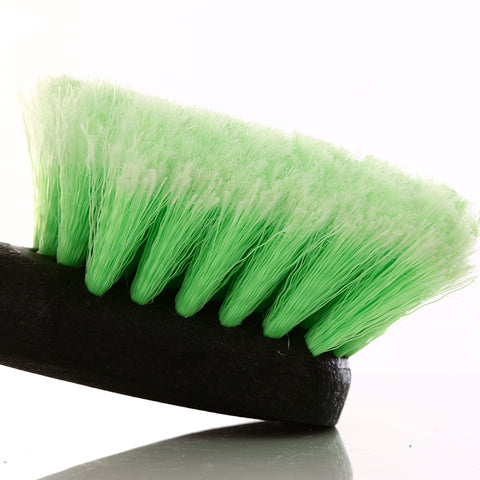Long Handle Feathered Bristle Angled Scrub Brush