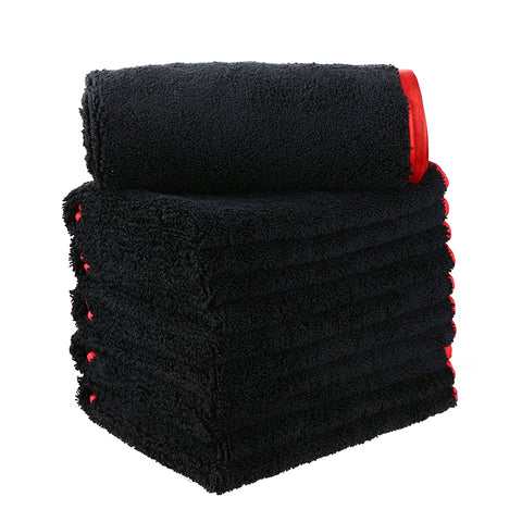 "Long/Short Hair Microfiber Towel (16""x16"", 380GSM, Pack of 6) - CarCarez Professional Auto Detailing and Cleaning Products"