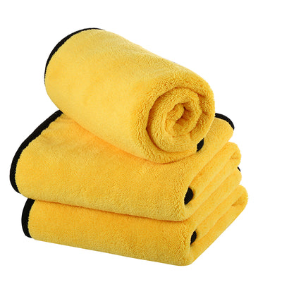 "Double Coral Fleece Microfiber Towel (16""x12"", 800GSM, Pack of 3) - CarCarez Professional Auto Detailing and Cleaning Products"