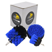 All Purpose Power Scrubber Cleaning Kit (3 Piece Set - Blue, Medium Bristle)
