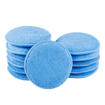"5"" Round Microfiber Polish/Wax Applicator (Pack of 12) - CarCarez Professional Auto Detailing and Cleaning Products"