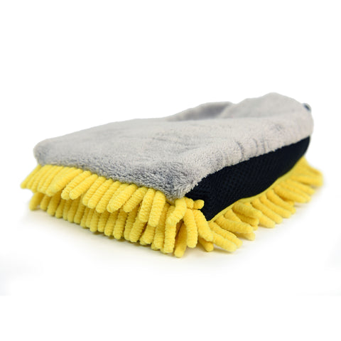 3-in-1 Microfiber & Chenille Wash Mitt (Pack of 2) - CarCarez Professional Auto Detailing and Cleaning Products