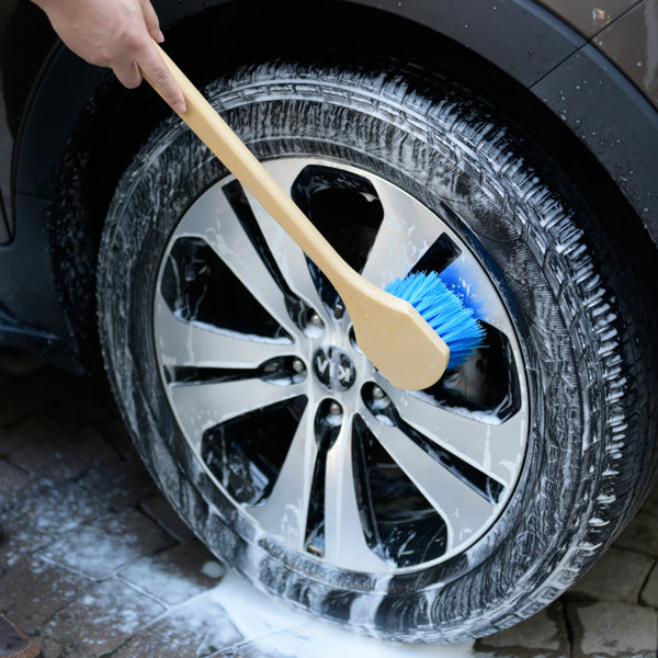 CarCarez 18 Inch Auto Cleaning Soft Bristles Brushes for Vehicle SUV, blue