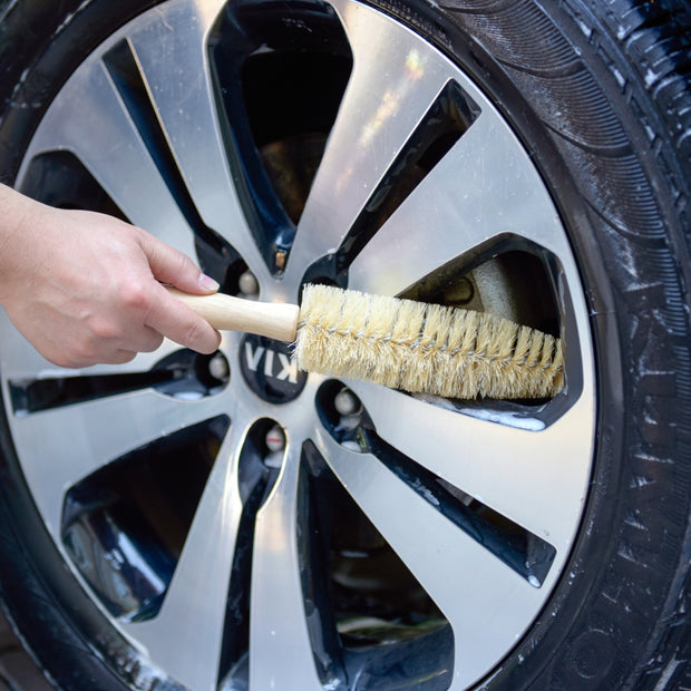 "12"" Flexible Wheel Spoke & Rim Brush (Pack of 2) - CarCarez Professional Auto Detailing and Cleaning Products"