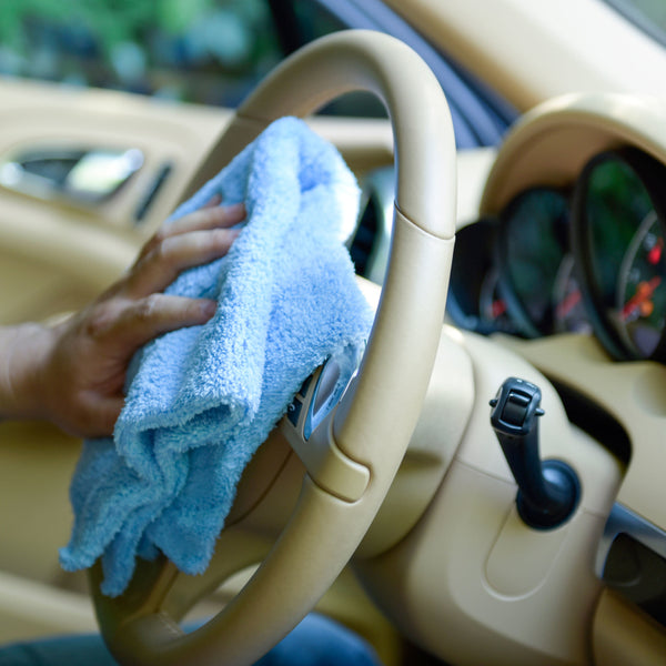 Car Wash Drying Coral Fleece Microfiber Edgeless Towel 16 X 16 inches Pack of 6. Blue