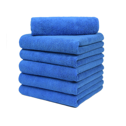 "Auto Cleaning Car Wash Drying Microfiber Basic Towel,15""X15"",260GSM, 6pcs/Pack, Navy"