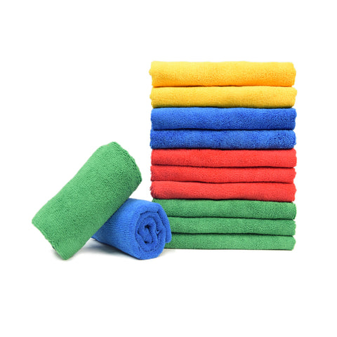 "Wash & Dry Premium Microfiber Towel (15""x15"", 260GSM, Pack of 6) - CarCarez Professional Auto Detailing and Cleaning Products"