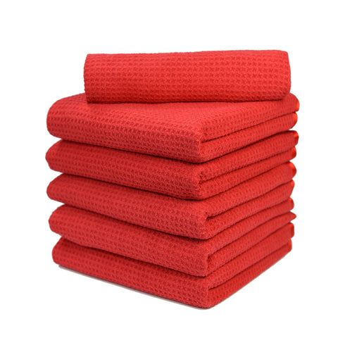 "Waffle Weave Microfiber Towel (16""x24"", 380GSM, Pack of 3) - CarCarez Professional Auto Detailing and Cleaning Products"