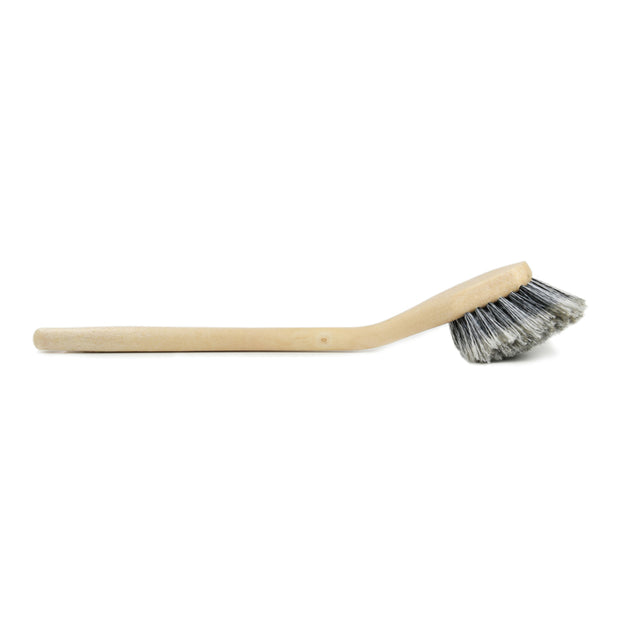 Long Handle Feathered Bristle Angled Scrub Brush - CarCarez Professional Auto Detailing and Cleaning Products