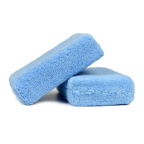 Professional Premium Grade Microfiber Applicator Pad, Blue, Pack of 12