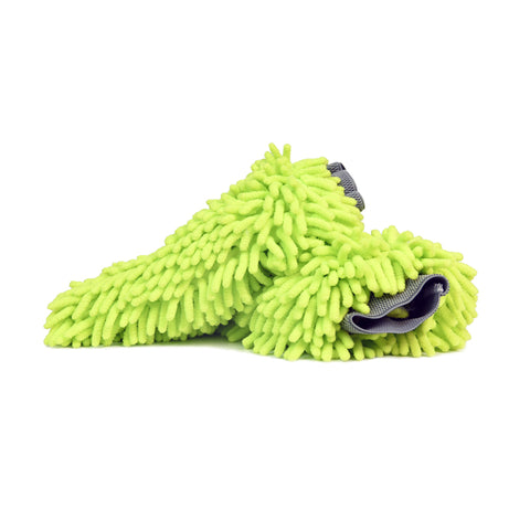 Microfiber Chenille Swirl-Free Soft Car Wash Mitt, Green, 2 Pack