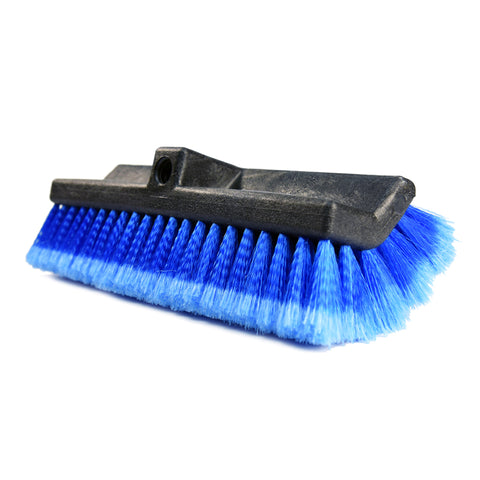 "CarCarez 13"" Flow-Thru Bi-Level Car Wash Brush Head with Feather-Tip Bristles, Blue"