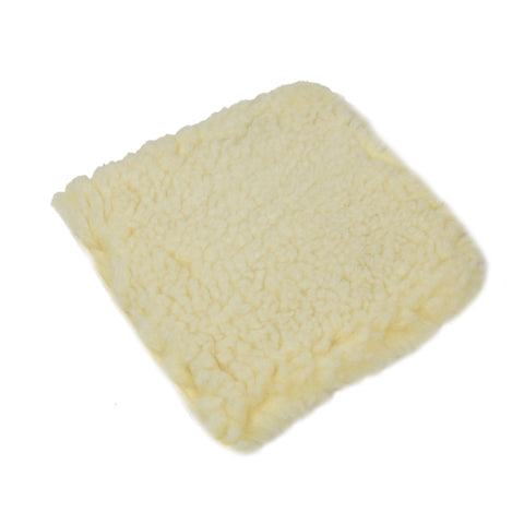 Auto Detailing Wash Pad - Wool Plush Car Cleaning, pack of 3, White