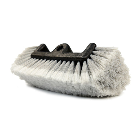 Auto Household Flow-Thru All-around Feather-Tip Soft Detailing Bristle Scrub Brush, Grey