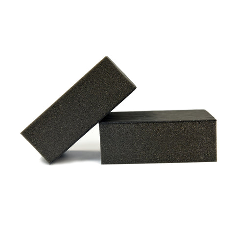 Fine Grade Big Clay Sponge Automotive Car Wash Sponge Pad, Black (Pack of 2)