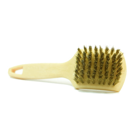 "CarCarez 9"" Car Cleaning Heavy Dust Wheel Brush with Short Handle , Brass Wire, Pack of 6"
