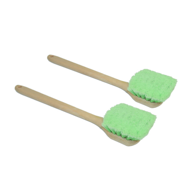 Long Handle Feathered Bristle Scrub Brush - CarCarez Professional Auto Detailing and Cleaning Products