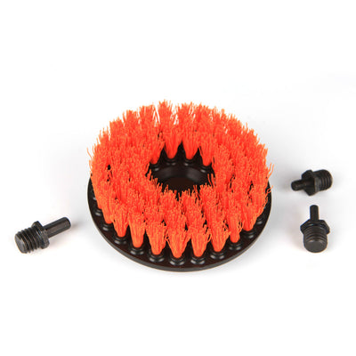"5"" Rotary Carpet Power Brush w. Multi-size Drill Bit Attachments - CarCarez Professional Auto Detailing and Cleaning Products"