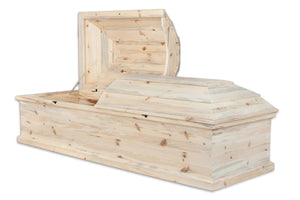 Casket Shell, Unfinished Pine, Solid Wood