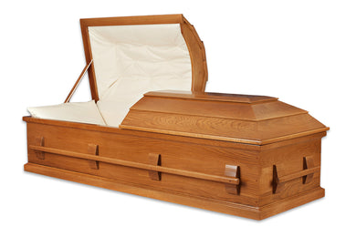 Casket Shell, Unfinished Oak, Your Design
